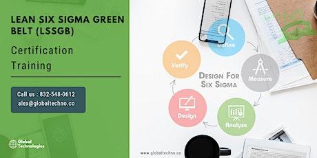 Lean Six Sigma Green Belt Certificat Training in  Cap-de-la-Madeleine, PE billets