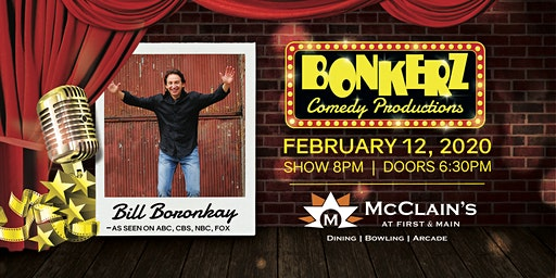 Bill Boronkay at Bonkerz Comedy Club - McClain's