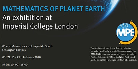 Mathematics of Planet Earth Exhibition 2020 tickets