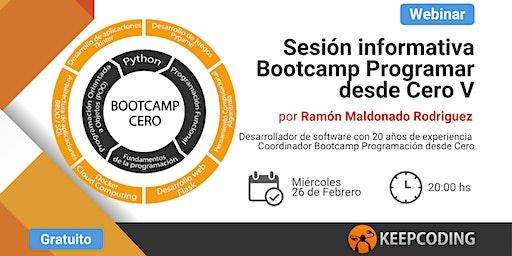 Sesión informativa: Bootcamp Aprende a Programar Desde Cero - V Edición