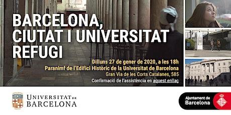 Barcelona: ciutat i universitat refugi entradas