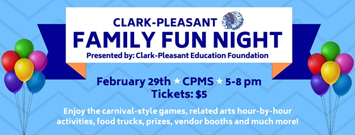 Clark-Pleasant Education Foundation Family Fun Night 2020 image