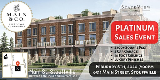Platinum Event - Main & Co. Townhomes by StateView Homes