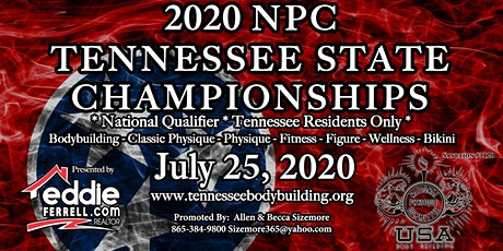 2020 NPC Tennessee State Championships: Bodybuilding, Classic Physique, Physique, Fitness, Figure, Wellness, and Bikini Show Ticket tickets