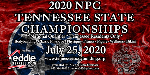 2020 NPC Tennessee State Championships: Bodybuilding, Classic Physique, Physique, Fitness, Figure, Wellness, and Bikini Show Ticket
