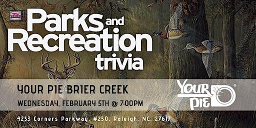 Parks & Rec Trivia at Your Pie Brier Creek