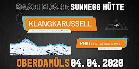 Sunnegg Sessions presents : SeasonClosing mit Klangkarussel und phio (live) Tickets
