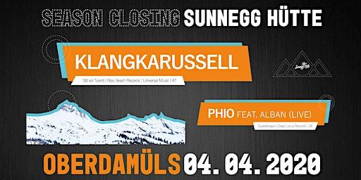 Sunnegg Session presents : Closing Party mit Phio (live) und Klangkarussel