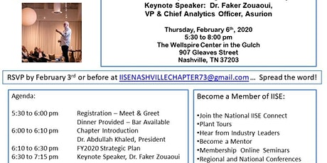 IISE Nashville Chapter 73 Dinner Meeting tickets