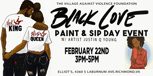 Black Love Paint & Sip Day Event