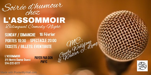 Soirée d'humour chez l'Assommoir - Bilingual Comedy Night
