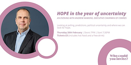 Hope: In the Year of Uncertainty | An Evening with Andrew Hawkins, ComRes tickets