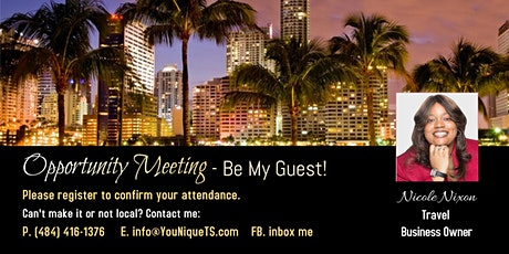 Travel Business Ownership Opportunity Meeting tickets