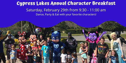 Character Breakfast at Cypress Lakes