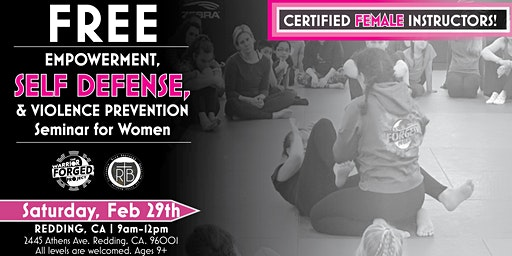 Violence Prevention & Self Defense Seminar - Redding