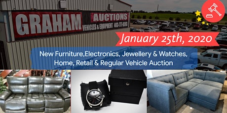 New Furniture, Electronics, Home & Retail Auction tickets