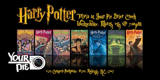 Harry Potter Books Trivia at Your Pie Brier Creek