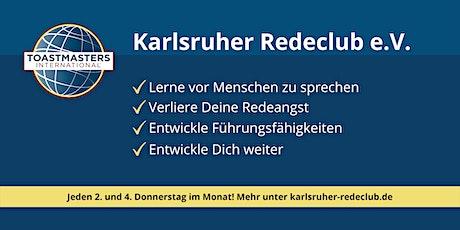 Rhetorik verbessern - Karlsruher Redeclub e.V. - Toastmaster Treffen tickets