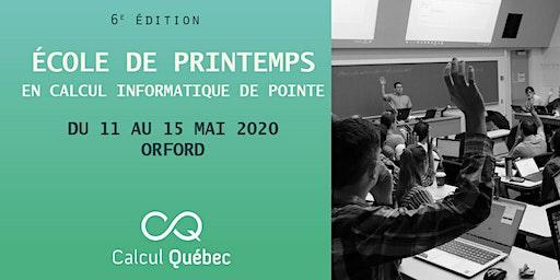 École de printemps Calcul Québec 2020