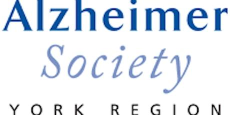 Alzheimer Society York Region - Caregivers Support Group  tickets