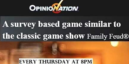 House of Hops Opinionation Survey Style Trivia Thursdays at 8pm