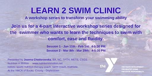 Learn 2 Swim 4 Triathlon swim clinics