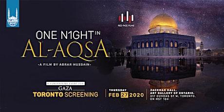 One Night in Al-Aqsa Film Screening · Toronto tickets