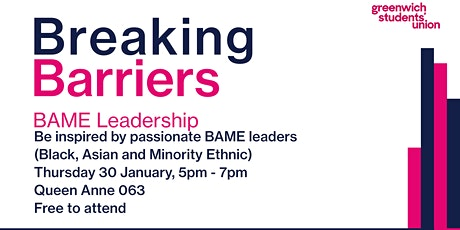 Breaking Barriers; BAME Leadership Event tickets