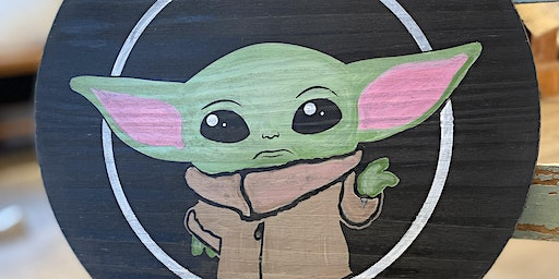 Baby Yoda Wooden Wall Art