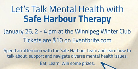 Let's Talk Mental Health with Safe Harbour Therapy tickets