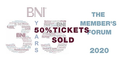 BNI: THE MEMBERS' FORUM 2020 tickets