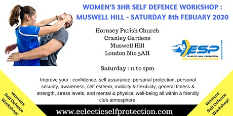 WOMENS FEBUARY MUSWELL HILL SELF DEFENCE WORKSHOP 2020 tickets