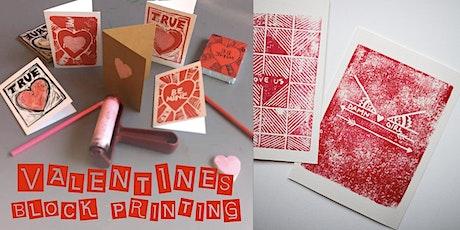 Valentine's Block Printing tickets