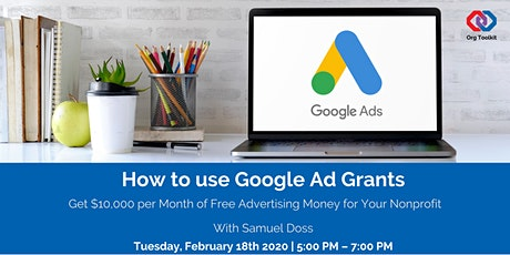 How to use Google Ad Grants tickets