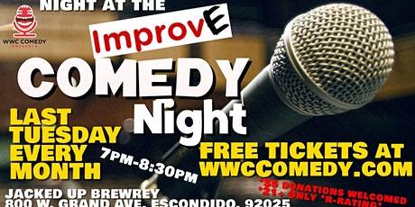 Night at the Improv(e) Comedy Night @JackedUpBrewery tickets