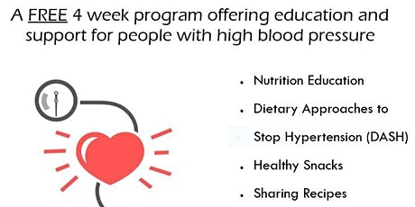 Healthy Eating for Blood Pressure tickets