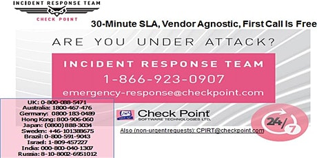 Incident Response Lunch and Learn  2/19/2020 tickets