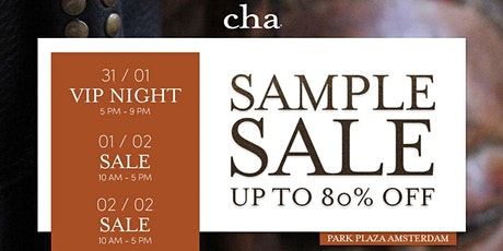 CHA SAMPLE & OLD STOCK SALE tickets
