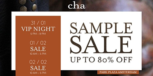CHA SAMPLE & OLD STOCK SALE