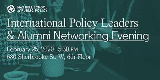 International Policy Leaders and Alumni Networking Evening
