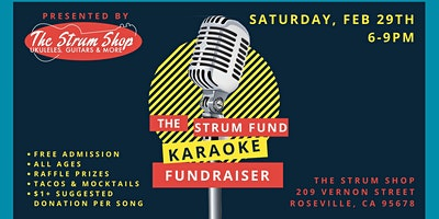 All Ages Karaoke Fundraiser for The Strum Fund