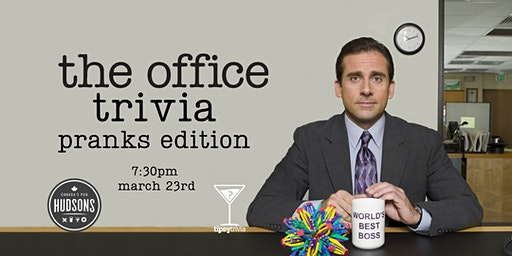 The Office Trivia - March 23, 7:30pm - Hudsons Saskatoon