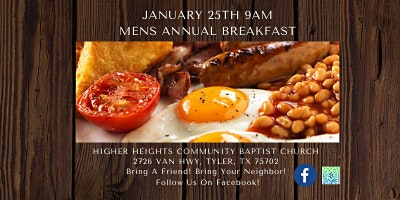 Higher Heights Community Baptist Church Men's Annual Breakfast