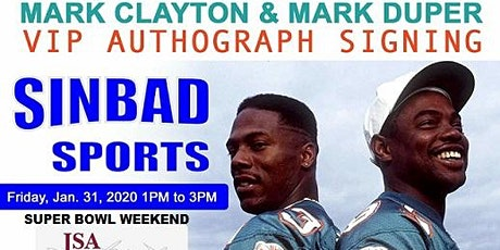 Miami Dolphins Marks Brothers: Mark Duper and Mark Clayton Super Bowl LIV tickets