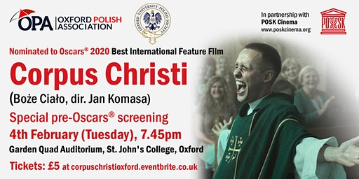 Corpus Christi - Special screening at Oxford - Tuesday 4th February, 7.45pm