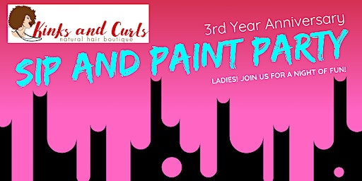 3rd Anniversary Sip and Paint Event