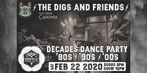 The Digs & Friends 80s 90s 00s Dance Party! | Asheville Music Hall