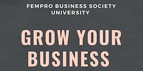 FemPro Business Society University tickets