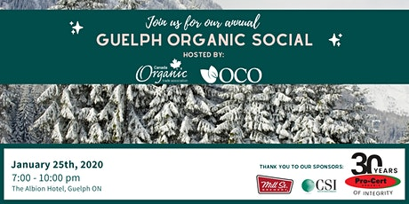 Guelph Organic Social (organized by the Canada Organic Trade Association and the Organic Council of Ontario) tickets