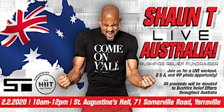 Shaun T LIVE - Australia Bushfire Fundraiser tickets